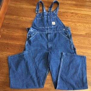 Carhartt bibs overalls carpenter jeans 36 x 30